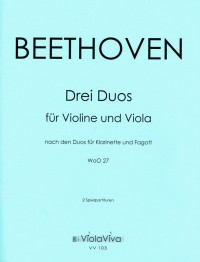 VV 103 • BEETHOVEN - Three Duets in G major, C major and B