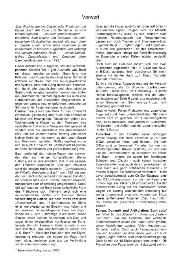Das Wohltemp. Kl. I, Heft 2, 4 zweistimmige Präludien, für 2 Bratschen (Bratsche und Violoncello)