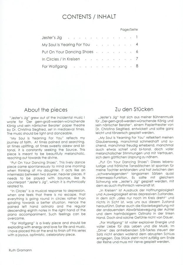 Five Pieces, für Bratsche und Klavier, 2008-2010